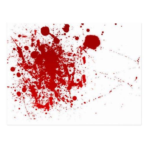 Salpicadura de la sangre tarjeta postal