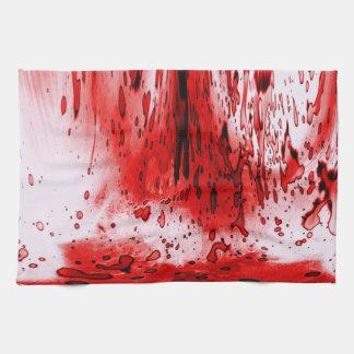 Salpicadura de la sangre toalla