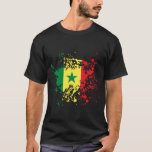 Salpicadura de la tinta de la bandera de Senegal Playera
