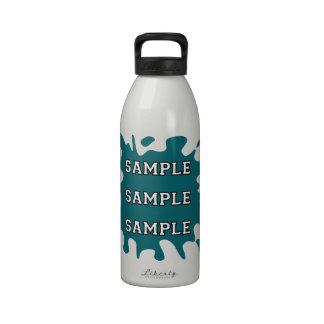 Salpicadura de la tinta de la fan de deportes botellas de agua reutilizables