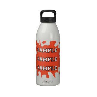 Salpicadura de la tinta de la fan de deportes botella de agua reutilizable