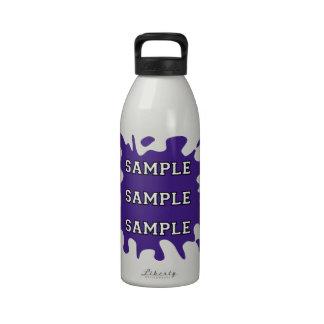 Salpicadura de la tinta de la fan de deportes botella de beber