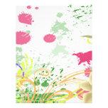 salpicadura de las orquídeas tarjeta publicitaria