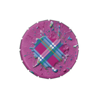 salpicadura de los controles 3D en la textura de c Latas De Dulces