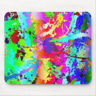 Salpicadura de neón fresca del arco iris mousepads