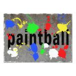"""Salpicadura de Paintball en el muro de cemento Invitación 5"""" X 7"""""""