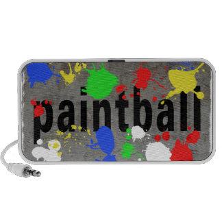 Salpicadura de Paintball en el muro de cemento Mini Altavoz