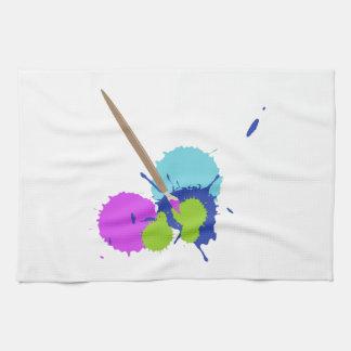 Salpicadura del arte toalla