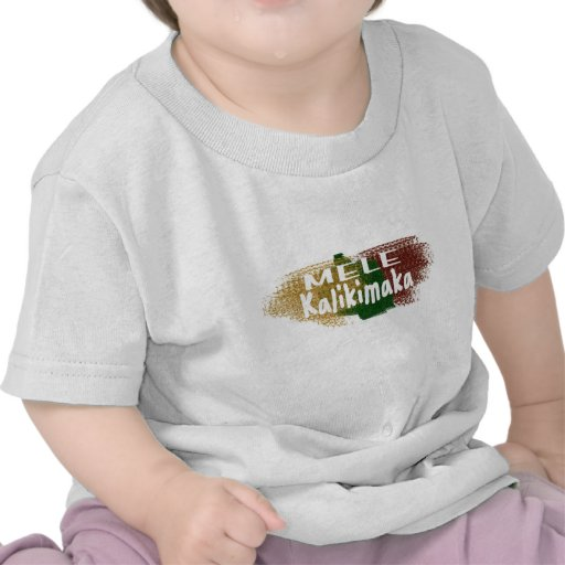 Salpicadura del brillo de Mele Kalikimaka Hawaii Camiseta
