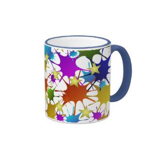 Salpicadura del chapoteo y modelo de estrellas taza de dos colores