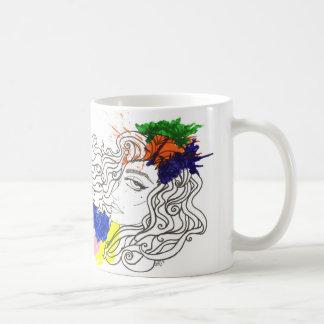 Salpicadura del color taza