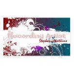 Salpicadura del Grunge de la tarjeta de visita del