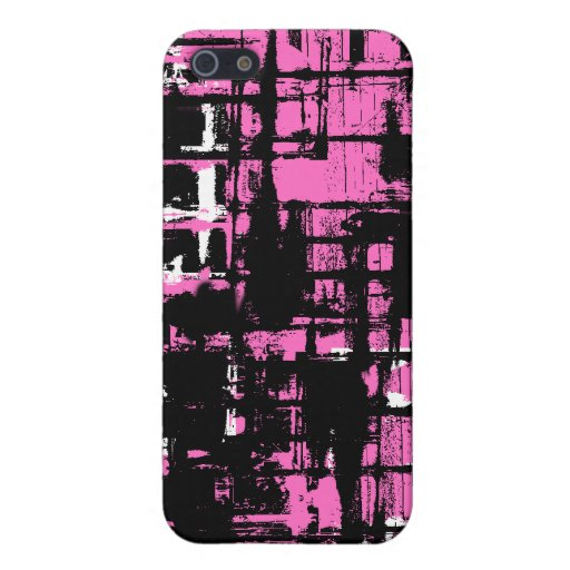 Salpicadura del rosa y del negro - iPhone 4 iPhone 5 Cárcasa
