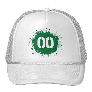 Salpicadura del verde #00 gorros