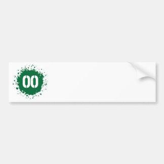 Salpicadura del verde #00 pegatina para auto