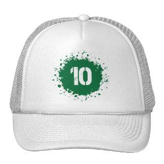 Salpicadura del verde #10 gorro