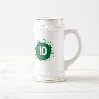 Salpicadura del verde #10 jarra de cerveza