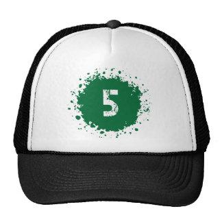 Salpicadura del verde #5 gorras de camionero