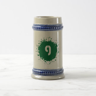Salpicadura del verde #9 jarra de cerveza