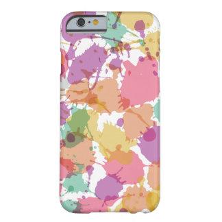 Salpicadura en colores pastel de la pintura funda para iPhone 6 barely there