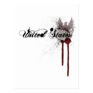 Salpicadura Estados Unidos de la sangre del Grunge Postal