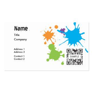 Salpicadura genérica de la pintura de la plantilla tarjetas de negocios