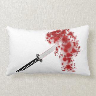 Salpicadura Katana de la sangre Cojines
