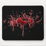Salpicadura Mousepad de la sangre