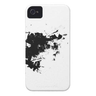 salpicadura negra iPhone 4 cárcasa