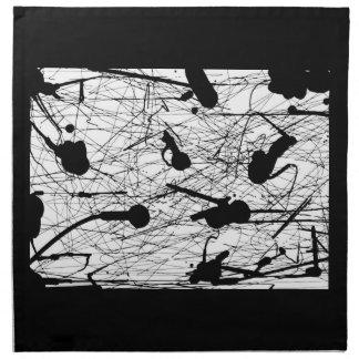 Salpicadura negra original servilleta de papel