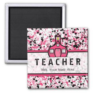 Salpicadura negra y rosada del imán del profesor -