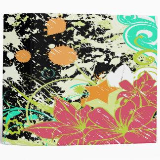 salpicadura notebook-2-01 de la flor del vintage