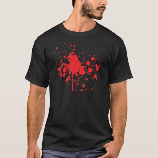 salpicadura roja humana de la sangre playera