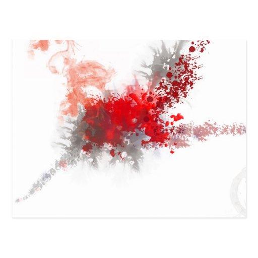 Salpicadura roja postal