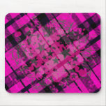 Salpicadura rosada de la pintura de la tela escoce alfombrilla de raton