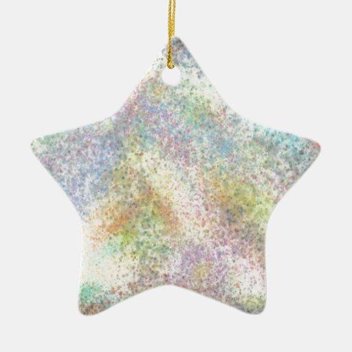 Salpicadura sucia del arco iris adorno de cerámica en forma de estrella