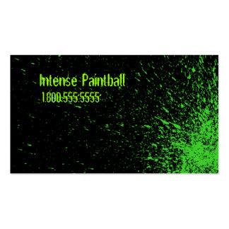 salpicadura verde de la pintura tarjetas de visita