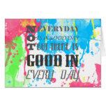 Salpicadura vibrante colorida de los watercolours  tarjetas