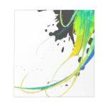 Salpicaduras abstractas de la pintura de aguas fre bloc