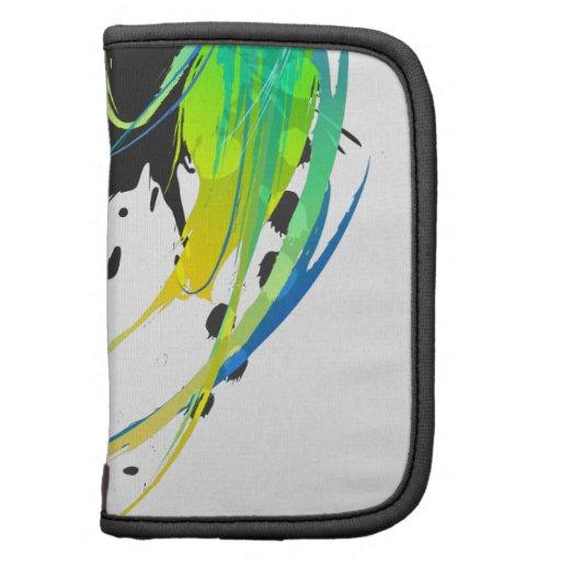 Salpicaduras abstractas de la pintura de aguas fre planificadores