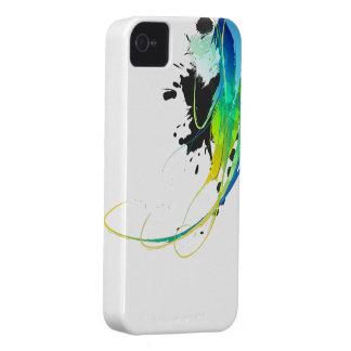 Salpicaduras abstractas de la pintura de aguas fre iPhone 4 Case-Mate cobertura