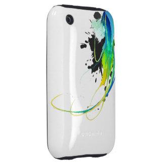 Salpicaduras abstractas de la pintura de aguas fre tough iPhone 3 fundas