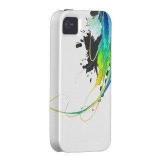 Salpicaduras abstractas de la pintura de aguas fre iPhone 4 funda