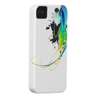 Salpicaduras abstractas de la pintura de aguas fre iPhone 4 Case-Mate carcasa