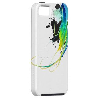 Salpicaduras abstractas de la pintura de aguas fre iPhone 5 carcasas