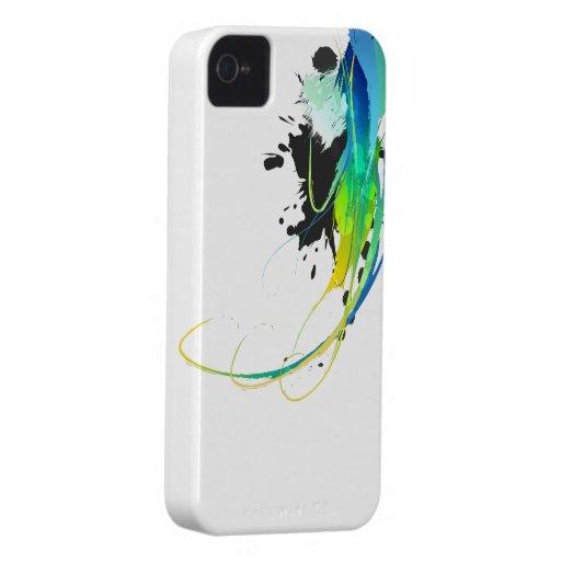 Salpicaduras abstractas de la pintura de aguas fre Case-Mate iPhone 4 protectores