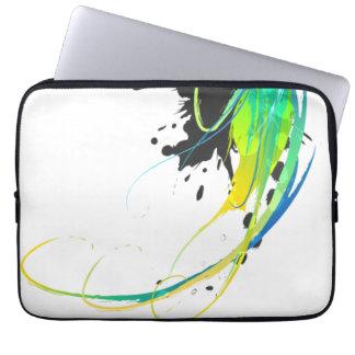 Salpicaduras abstractas de la pintura de aguas fre funda portátil