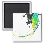 Salpicaduras abstractas de la pintura de aguas fre imán para frigorifico