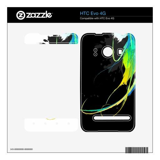 Salpicaduras abstractas de la pintura de aguas fre calcomanía para el HTC evo 4G