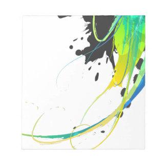 Salpicaduras abstractas de la pintura de aguas fre libreta para notas